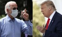 Tổng thống Donald Trump (phải) và cựu Phó Tổng thống Joe Biden (trái). Ảnh: Getty