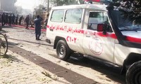 Xe cấp cứu có mặt tại hiện trường. Ảnh: TOLO News