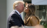 Tổng thống Trump và phu nhân Melania. Ảnh: AP