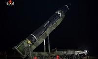Tên lửa ICBM của Triều Tiên. Ảnh: Yonhap