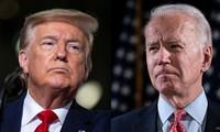 Tổng thống Donald Trump và cựu Phó Tổng thống Joe Biden. Ảnh: Sky News