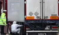 Thùng xe container nơi phát hiện thi thể 39 nạn nhân. Ảnh: Sky News
