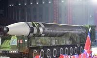 ICBM mới của Triều Tiên. Ảnh: KCNA