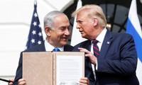 Tổng thống Mỹ Donald Trump và Thủ tướng Israel Benjamin Netanyahu. Ảnh: Reuters