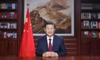 Chủ tịch Tập Cận Bình phát biểu mừng năm mới. Ảnh: Tân Hoa Xã