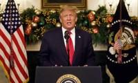 Ông Trump phát biểu từ Nhà Trắng.