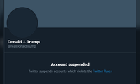 Tài khoản Twitter của ông Trump đã bị khóa.