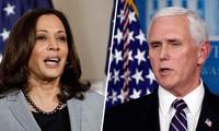 Phó Tổng thống Mike Pence (phải) và Phó Tổng thống đắc cử Kamala Harris (trái). Ảnh: MSNBC
