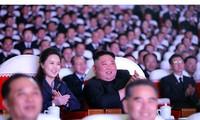 Phu nhân ông Kim Jong-un xuất hiện ngày 16/2. Ảnh: Rodong Sinmun
