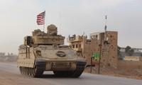 Xe chiến đấu Mỹ ở Syria. Ảnh: Tân Hoa Xã