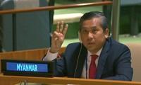 Đại sứ Kyaw Moe Tun trong cuộc họp ngày 26/2.