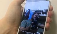 Một video có nội dung đe dọa trên TikTok. Ảnh: Reuters