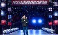 Tổng thống Nga Putin trong sự kiện ngày 18/3. Ảnh: Tass