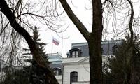 Đại sứ quán Nga tại Praha (Séc). Ảnh: Reuters