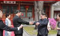 Ông Kim Jong Un gặp ông Tập Cận Bình 4 lần trong vòng chưa đầy 1 năm qua. Ảnh: Getty Images.