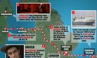 Hành trình của chuyến xe tải định mệnh cướp đi sinh mạng của 39 người. Nguồn: The Sun