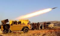 Một quả rocket Katyusha đang được phóng đi ở Iraq. Ảnh minh họa: Getty.