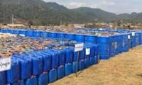 Số tiền chất ma túy mà cảnh sát Myanmar vừa thu giữ. Nguồn: CNN.