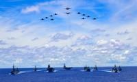 Tàu chiến Úc, Mỹ, Nhật diễn tập trên biển Đông gần Philippines. Nguồn: Bộ Quốc phòng Úc.