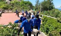 Tỉnh Đoàn Bình Định ra quân các đội Thanh niên tình nguyện hè 2020 tại xã đảo Nhơn Châu.