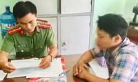 Trần Minh D. làm việc với cơ quan công an.