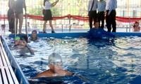 Quỹ Cộng đồng phòng tránh thiên tai, Hội đồng Đội TƯ tổ chức khánh thành và trao tặng Công trình bể bơi và nhà vòm bảo vệ cho trường Tiểu học Thái Thị Bôi (quận Cẩm Lệ, Đà Nẵng)