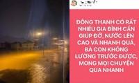Rạng sáng 18/10: Nước lũ lên nhanh, người dân Quảng Trị kêu cứu trên mạng xã hội