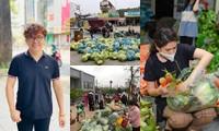 """""""Phiên chợ 0 đồng"""" và những chuyến xe giải cứu nông sản Hải Dương của nghệ sĩ Việt"""