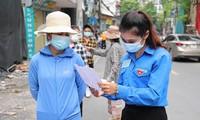 Clip hàng nghìn thanh niên hỗ trợ lấy mẫu xét nghiệm diện rộng ở Hà Nội