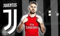 Aaron Ramsey trên đường gia nhập Juventus.