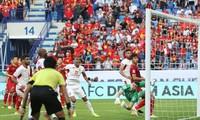 Pha ghi bàn của Baha Abdel-Rahman vào lưới ĐT Việt Nam.