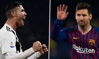 Cristiano Ronaldo ăn đứt Lionel Messi về phong độ ghi bàn tại Champions League.