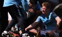 De Bruyne dính chấn thương tương đối nặng.