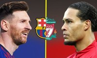 Lionel Messi chuẩn bị đối đầu Virgil van Dijk.