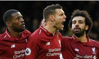 James Milner (giữa) sẽ được gia hạn hợp đồng sau chung kết Champions League.