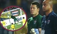 Thủ thành Kawin Thamsatchanan thất vọng về sai lầm cá nhân khiến ĐT Thái Lan bại trận.