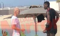 HLV Zinedine Zidane gặp gỡ Paul Pogba tại Dubai.
