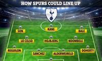 Đội hình Tottenham khi có thêm Gareth Bale và Sergio Reguilon.
