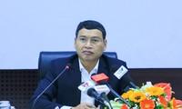 Ông Hồ Kỳ Minh chủ trì buổi họp báo. Ảnh: Nguyễn Thành