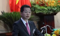 Ông Nguyễn Văn Quảng, Bí thư Thành uỷ Đà Nẵng phát biểu chỉ đạo tại kỳ họp thứ 17, HĐND TP Đà Nẵng khoá IX (nhiệm kỳ 2016 - 2021). Ảnh: Nguyễn Thanh