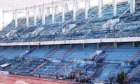 Hiện trạng sân vận động Chi Lăng xuống cấp sau khi bán cho đại gia Phạm Công Danh. Ảnh Nguyễn Thành