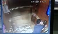 Hình ảnh kẻ biến thái có hành vi sàm sở bé gái trong thang máy gây xôn xao dư luận
