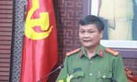 Đại tá Nguyễn Đức Dũng, Trưởng phòng tham mưu tổng hợp, Công an TP Đà Nẵng cung cấp thông tin tại buổi họp báo. Ảnh: Nguyễn Thành