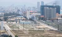 Khu vực quanh sân bay Nước Mặn (quận Ngũ Hành Sơn) nơi có các lô đất liên quan đến người Trung Quốc. Ảnh: Nguyễn Thành