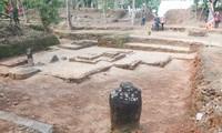 Một góc di chỉ khảo cổ Chăm Phong Lệ.
