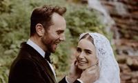 """Trong lúc chờ """"Emily in Paris"""" mùa 2 lên sóng, Lily Collins tranh thủ cưới chồng luôn rồi!"""