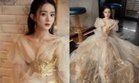 """Lai lịch khó ngờ của bộ váy lộng lẫy giúp Triệu Lệ Dĩnh thành """"Nữ hoàng đêm hội Bazaar"""""""