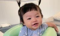 """""""Cưng muốn xỉu"""" với bé Suchin nhà Cường Đô La: Mái ngố, má bánh bao, biểu cảm hoạt hình"""
