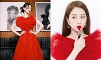 Ngắm Angelababy diện váy đỏ Dior bồng bềnh mới hiểu vì sao Jisoo chỉ chụp ảnh chính diện