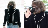 Trang phục Lisa BLACKPINK mặc ra sân bay đi Paris khiến netizen càng nhìn càng hoang mang